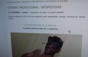 Falso Stripper de FaKings, ¡negro y con la verga como una estaca!