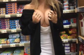 Sexo público en el supermercado