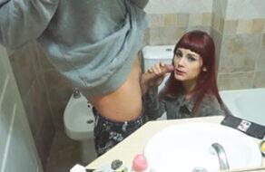 follada en el cuarto de baño casero