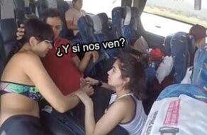mamada en un autobus