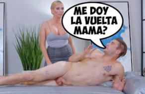 madre da un masaje a su hijo y terminan follando