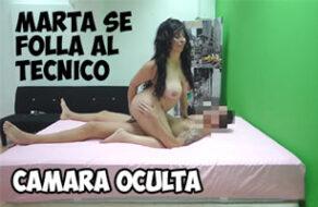 la española martita se folla al técnico del aire acondicionado